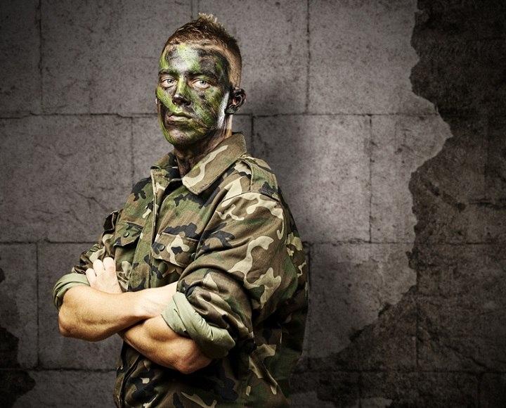 young soldier portrait