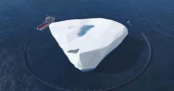 transporter un iceberg en Afrique du Sud